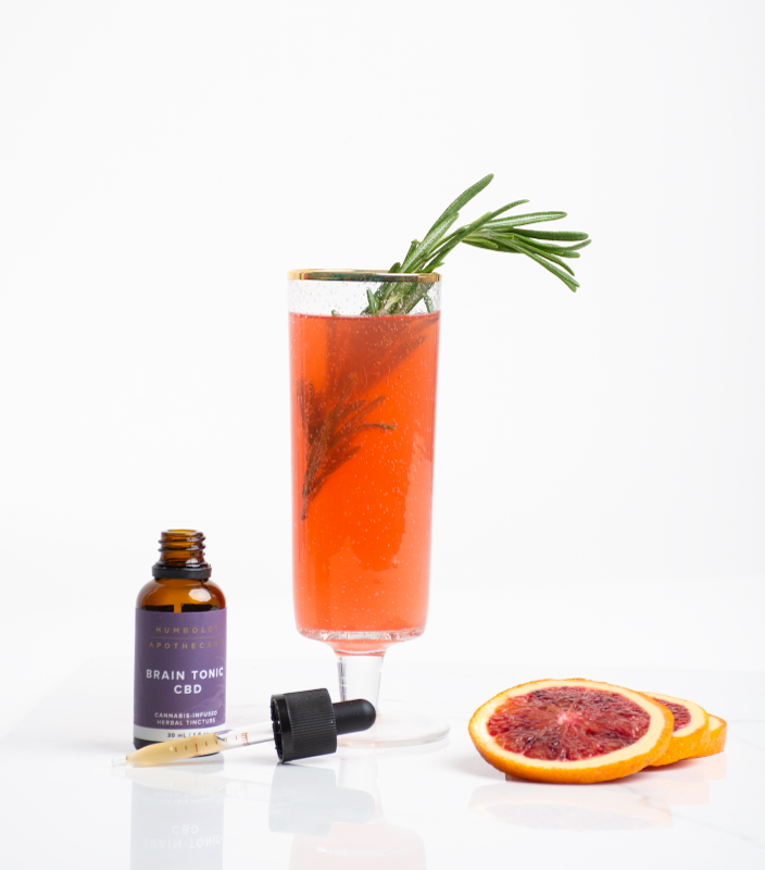 Blood Orange Spritzer featuring Humboldt Apothecary Brain Tonic CBD Cannabis Tincture