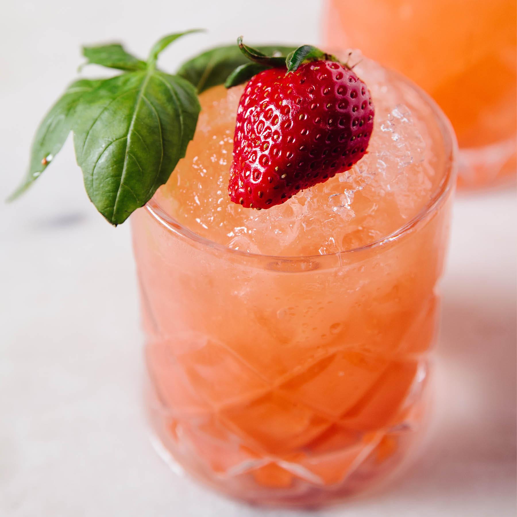 Strawberry Basil Sunset