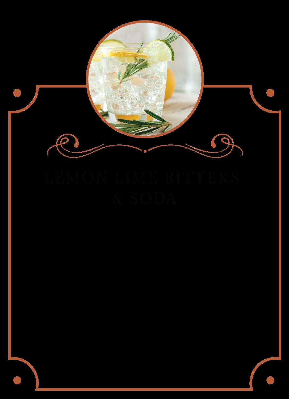 Lemon Lime Bitters Soda